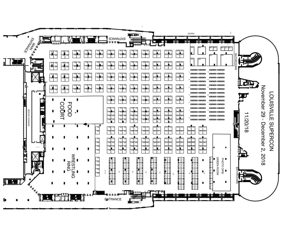 GalaxyCon Vendor Map, Kentucky International Convention Center